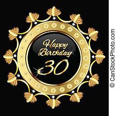 Alles Gute zum 30. Geburtstag, Golddesign