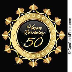 Alles Gute zum 50. Geburtstag, Golddesign