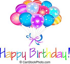 Alles Gute zum Geburtstag mit Ballons