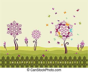 Alles Gute zum Geburtstag mit Blumen