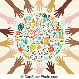 Allgemeine Bildung ist menschliche Hände.