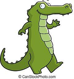 Alligator läuft