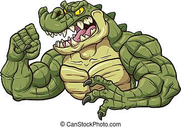 Alligator-Maskottchen