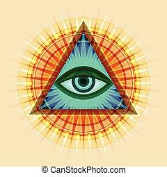 Allsehendes Auge (Das Auge der Vorsehung)