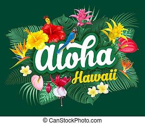 Aloha Hawaii Briefing und tropische Pflanzen