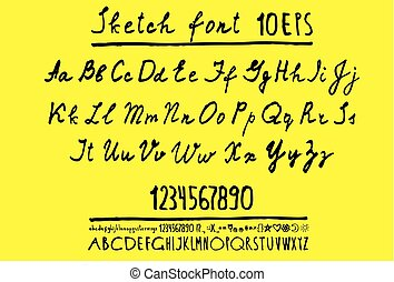 Alphabet-Briefe, Großbuchstaben.