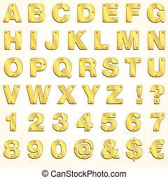 Alphabet-Goldbriefvektor