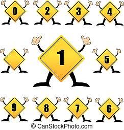 Alphabet-Nummern, Teil einer Serie.