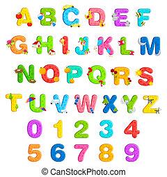 Alphabet und Nummer fertig