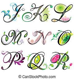 Alphabete Elemente J-R