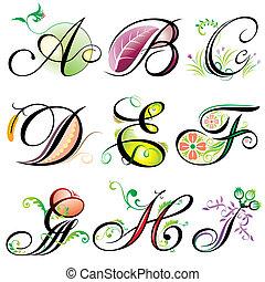 Alphabetisiert Elemente A-I