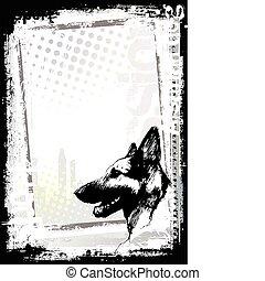 Alsatianisches Hundeposter