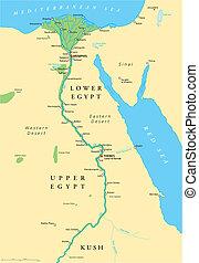 Alte Ägypterkarte