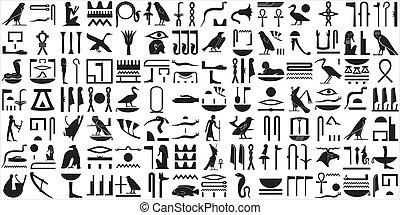 Alte ägyptische Hieroglyphen SET 2