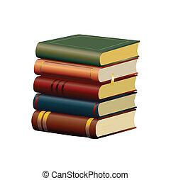 Alte Bücher isoliert