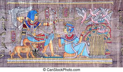 Alte egyptische Papyrus