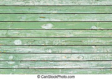 Alte grüne Holzwand - Struktur oder Hintergrund