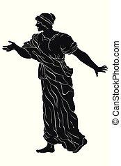 Alte griechische Frau