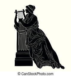 Alte griechische Frau.