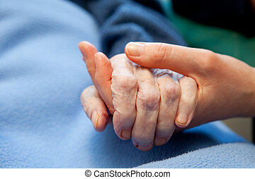 Alte Hand ist älter
