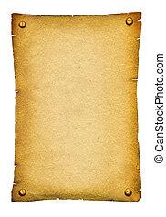 Alte Papierbeschwerden. Antique Hintergrundsrolle für Text auf weiß