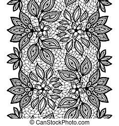 Alte Spitzen, nahtloses Muster, dekorative Grenze. Vector Textur.
