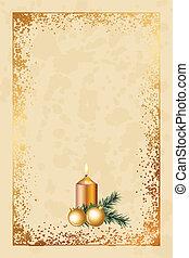 Alte Weihnachtskarte.