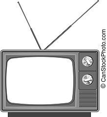 Alter Fernseher mit leerem Bildschirm