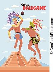 Alter Maya Sport Hintergrund