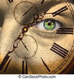 Alter oder Bio-Uhr-Konzept