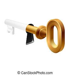 Alter Schlüssel in einem Schlüsselloch