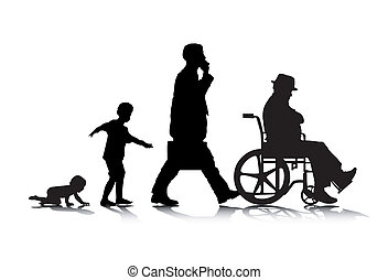 altern, 2, menschliche