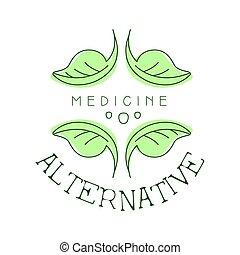 Alternativ-Medizin-Logo-Vektor Vektor Illustration.