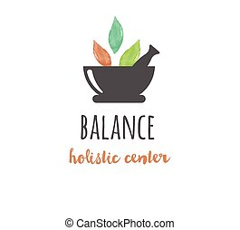 Alternative Medizin und Wellness, Yoga - Vektor Aquarell Icon, Logo.