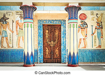 Altes Ägyptisches Schreiben auf Stein in Ägypten
