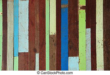 Altes Holz gemalt