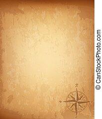 Altes Vintagepapier mit dem Sternzeichen der Windrose. Sehr detaillierte Vektorgrafik.