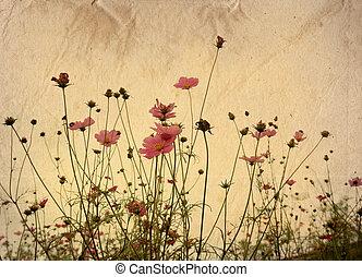Altmodische künstlerische Blume