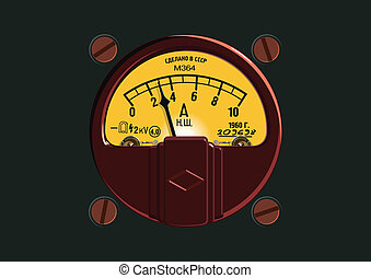 Altmodisches Ampermeter