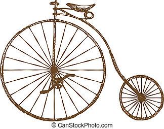 Altmodisches Fahrrad.