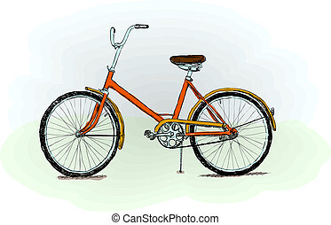 Altmodisches Fahrrad - Vektor