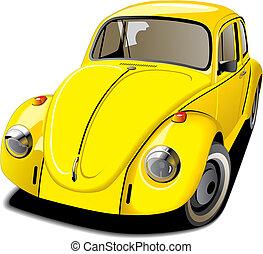 Altmodisches gelbes Auto
