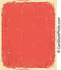 Altpapier. Vector Red Grunge für Text