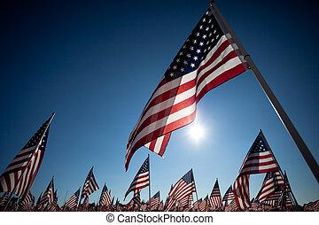 Amereican Flag zur Feier des Nationalfeiertags