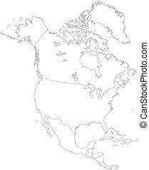 amerika, nord, kontur
