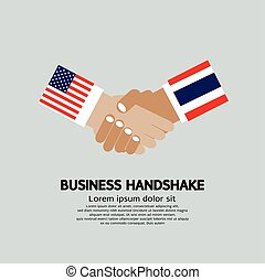 amerika, vektor, geschaeftswelt, thailand., (usa), illustration., staaten, mitglied, vereint, hã¤ndedruck
