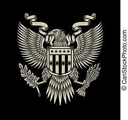 Amerikanische Adler Embleme.