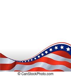 Amerikanische Flagge im horizontalen Hintergrund