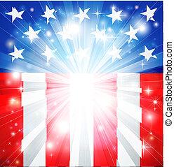 Amerikanische Flagge, patriotischer Hintergrund