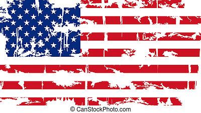 Amerikanische Flagge. Vector Illustration.